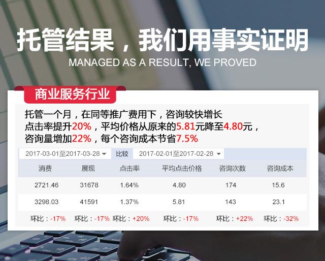 义乌竞价托管商业服务案例